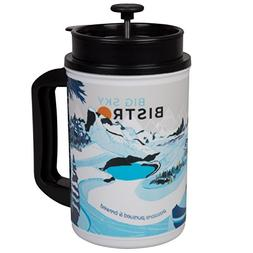 Big Sky Bistro French Press Travel Coffee Mug - Brew the Per