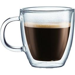 Bodum Bistro Double-Walled Transparent 10 Ounce Coffee Mug,