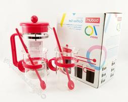 Bodum Bistro French Press 5 Piece Coffee Set - RED