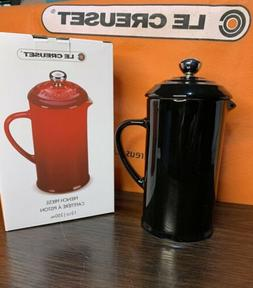 Le Creuset Black  Baby French Press Coffee Tea Maker 12oz St