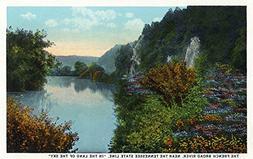 Blue Ridge Mountains, North Carolina - French Broad River Sc