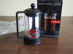 Bodum Brazil French Press 3 Cup Coffee Maker #1543 Black 12