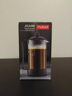 NEW Bodum Brazil French Press Coffee Maker, 34 Ounce, 1 Lite