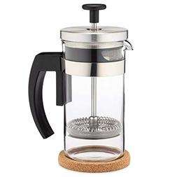 Brillante Small French Press Coffee Maker with 12 Ounce Glas