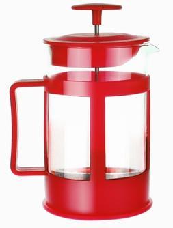 Primula Café Color 6-Cup Coffee Press, Red