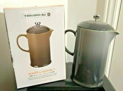 Le Creuset Café Collection Stoneware French Press, Oyster G