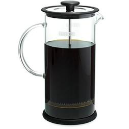 Forlife Cafe Style Glass Coffee/Tea Press 32-Ounce - Black