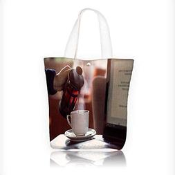 Canvas Zipper Tote Bag Printed Us laptop by French press Reu