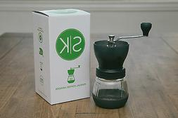 Premium Ceramic Burr Manual Coffee Grinder. Large 100g Capac