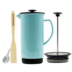 Forlife Ceramic French Press Coffee Maker + Bonus Wooden Spo