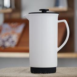 Forlife Ceramic French Press Coffee Maker + Bonus Wooden Spo