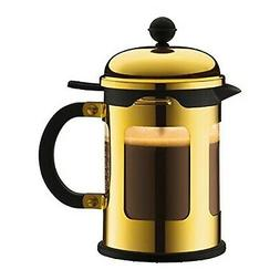 Bodum Chambord 4-Cup French Press Coffee Maker, Gold Chrome,
