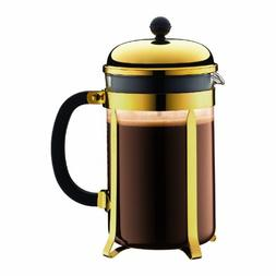 Bodum Chambord French Press Coffee Maker 12 Cup Gold 1.5 L ,