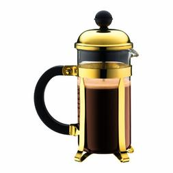Bodum Chambord Gold Tone French Press Coffee Maker, 3 Cup
