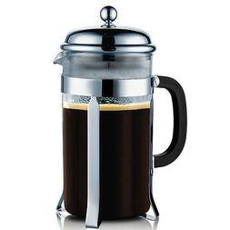 SterlingPro Chrome French Coffee Press 8 Cup Durable High Qu