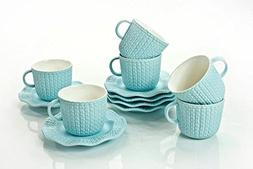 Yedi Houseware Classic Coffee and Tea Cups & Saucers|Complet