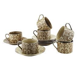 Teacups And Saucers Set Of 6 by Classic Coffee & Tea – Com