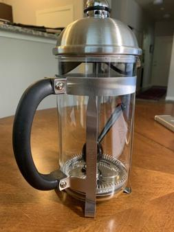 BonJour Coffee 3 Cup French Press in Stainless Steel New