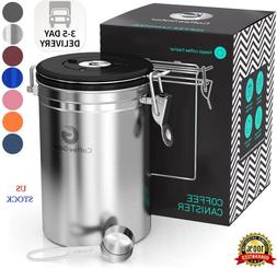 Coffee Canister - Coffee Gator Stainless Steel Coffee Contai