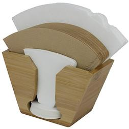 Coffee Filter Holder made from sustainable natural Bamboo. I