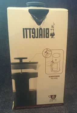 Bialetti Coffee French Press 8 Cups - Black. New In Box.