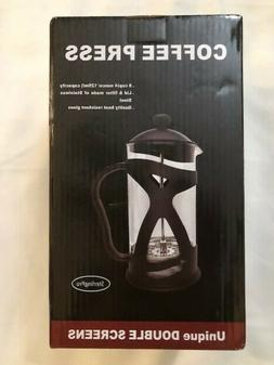SterlingPro Coffee Maker French Press Double Filter Purest 8