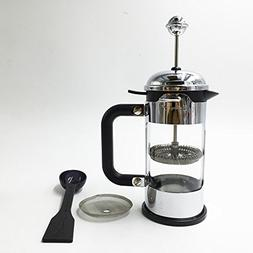 Ivykin Small Coffee Maker French Press Stainless Steel Outer