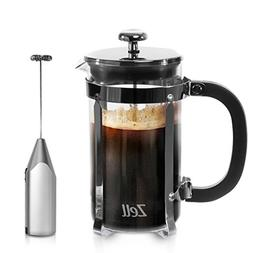 French Press Coffee Maker and Electric Milk Frother Set | Cl