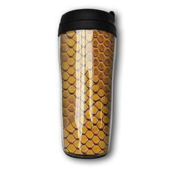 MANKCEST Travel Coffee Mug Snake Skin Texture Milk Cup Food