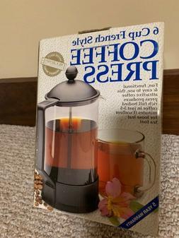 COFFEE PRESS 6 CUP FRENCH STYLE NIB !