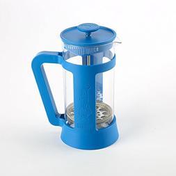 Coffee Press - Glass/Plastic Frame - 3 cups - Blue