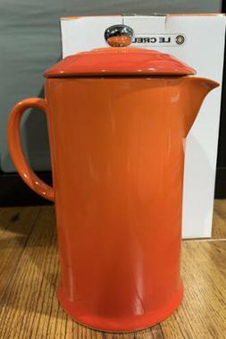 Le Creuset Coffee Press w/plunger - Volcanic Orange