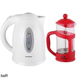 Ovente Cordless Electric Kettle with 34-ounce French Press C