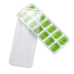 1 Pc Covered Ice Cube Tray Set With 14 Ice Cubes Molds,Flexi
