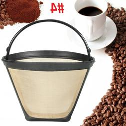 New Reusable #4 Cone Coffee Filter for Cuisinart Makers Prem