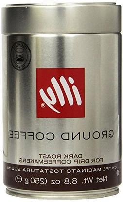 Illy Dark Roast Ground Coffee for Drip Coffeemakers & French