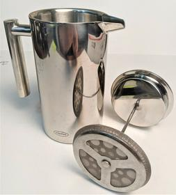 SterlingPro Dbl Wall Stainless Steel French Coffee Press