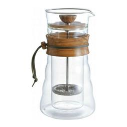 Hario Double Glass Coffee Press For 3 Cups 400ml Olivewood D