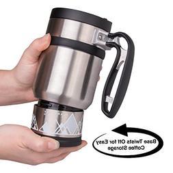 Double Shot 3.0 French Press Travel Coffee Mug, 16 oz - Brü