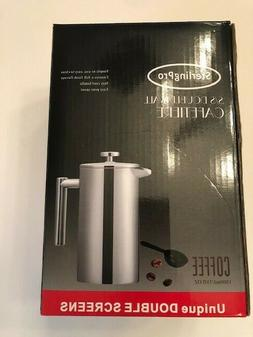 """""""SterlingPro Double Wall Stainless Steel French Coffee Press"""