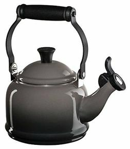 Le Creuset Enamel-on-Steel Demi 1-1/4-Quart Teakettle, Oyste