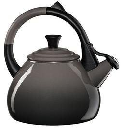 Le Creuset Enameled Steel 1.6 Quart Oolong Tea Kettle, Oyste