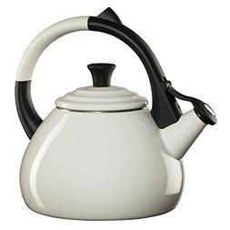 Le Creuset Enameled Steel 1.6 Quart Oolong Tea Kettle,White