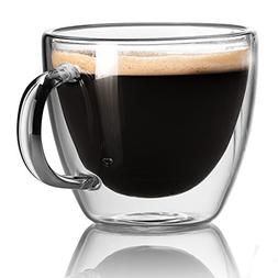 Espresso Cups - Extra-Strong Double Wall Insulated Glasses -