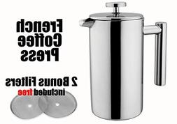 MSRM 34oz / 52oz European Double Wall Stainless Steel Coffee