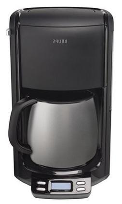 Krups FMF4-14 10-Cup Coffeemaker, Black and Stainless Steel