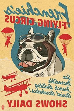 French Bulldog - Retro Flying Circus Ad