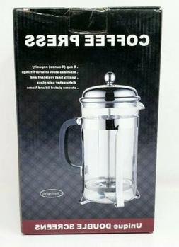 SterlingPro French Coffee Press 8 Cup , Chrome