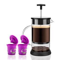 BRBHOM French Coffee Press 8 cup - 1 liter 34 oz Black