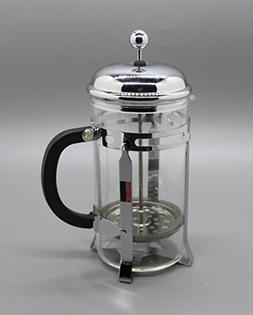 FixtureDisplays French Coffee Press - 8 Cup/4 Mug , Chrome 1
